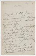 Letter, Franz Liszt to Eduard [Liszt]