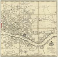 A new plan of the City of London and Borough of Southwark, exhibiting all the new streets, roads, &c.
