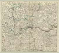 A map of the countries thirty miles round London, drawn and engraved from accurate surveys.