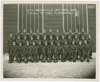 "1943-12, C.T.A.A. ""C"" Coy. Platoon No. I. O.T.C. [Officers' Training Centre] Brockville, Ontario"