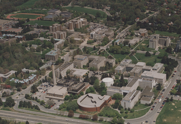 McMaster campus air photos
