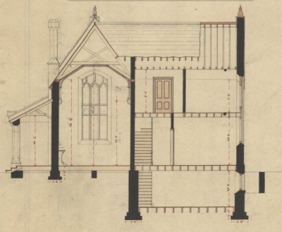 Design For A Gate Lodge Burlington Cemetery [set Of Architectural Plans]