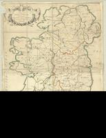 A map of the post towns and barracks ... in Ireland