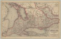 New railroad and county map of the Dominion of Canada compiled from the latest government surveys. Sheet no. 1. Ontario