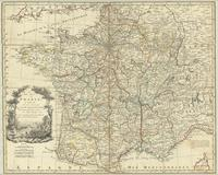 A new map of France in which the post stages are exactly express'd with the number of leagues from place to place