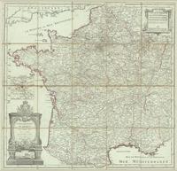 Cartes des postes de France pour l'année 1784