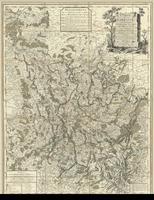 Carte de la Lorraine, du Barrois et des trois evêchés de Mets, Toul, et Verdun. Divisée par baillages
