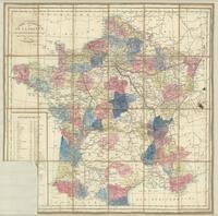 Carte itinéraire de la France