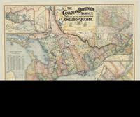 The Canadian Dominion survey, with distances, a new railway, post-office, township and precinct map of Ontario and Quebec