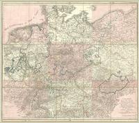 Carte réduite de la carte génerale d'Allemagne, pour servir à rassembler les neuf feuilles dont cette carte est composee...