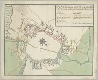 Plan des attaques de la ville et de la citadelle de Tournay prises par l'armée des allies en 1709