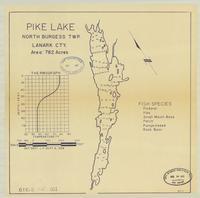 Pike Lake, North Burgess Township, Lanark County