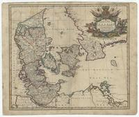 A new map of the Kingdom of Denmark with the Dutchy of Holstein &c. according the the newest observations