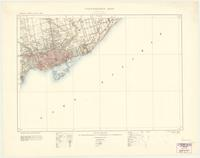 Toronto, ON. 1:63,360. Map sheet 030M11, [ed. 1], 1909