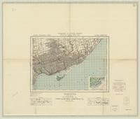 Toronto, ON. 1:63,360. Map sheet 030M11, [ed. 7], 1942