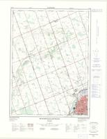 Woodstock West (-Hickson), ON. 1:25,000. Map sheet 040P02F, [ed. 2], 1976
