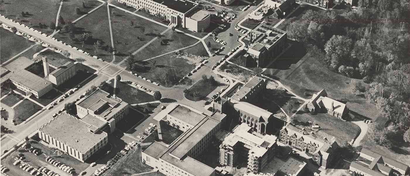McMaster University campus, 1964 or 1965